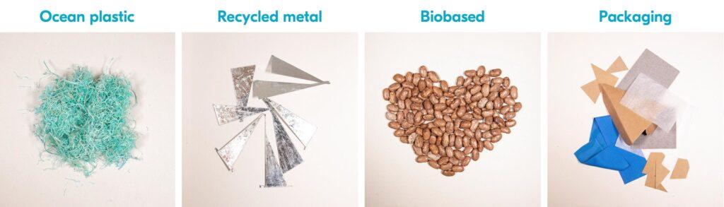 montatura plastica riciclata